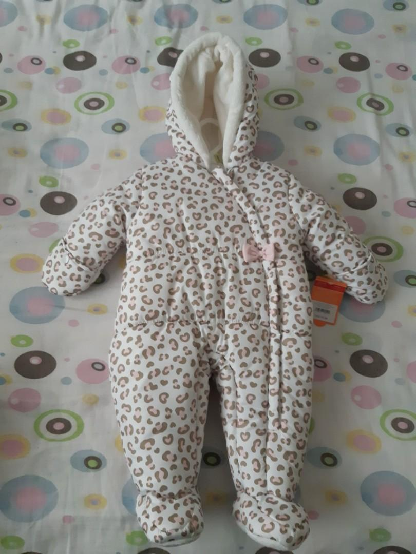Carters Leopard Infant 1-Piece Snowsuit