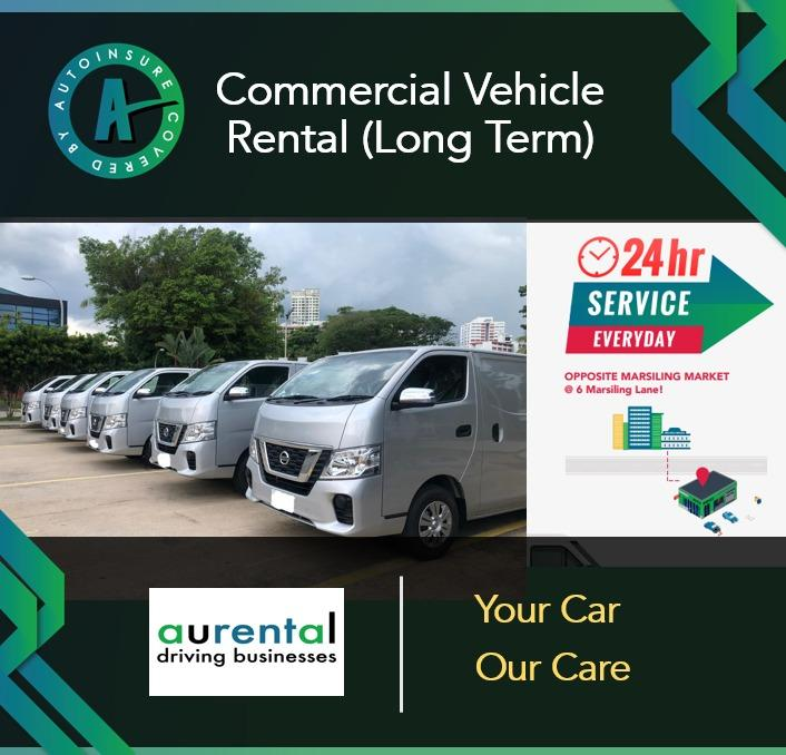 Commercial Vehicles Long Term Rental (Starting from 1 Year Only!)