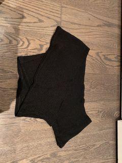 Criss cross off the shoulder knit top