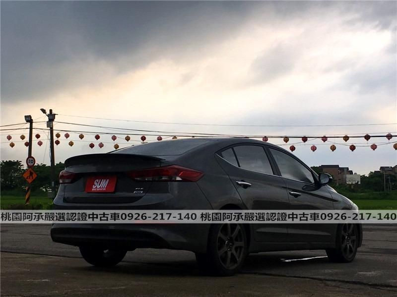 【FB搜尋桃園阿承】現代 超人氣ELANTRA柴油 2018年 1.6CC 灰色 二手車 中古車