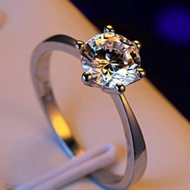 Gold | Silver | Rose Gold Color Ring AAA Austria Crystal Wedding Ring for Bridal Christmas Gift for Women Jewelry Engagement Ring Girls