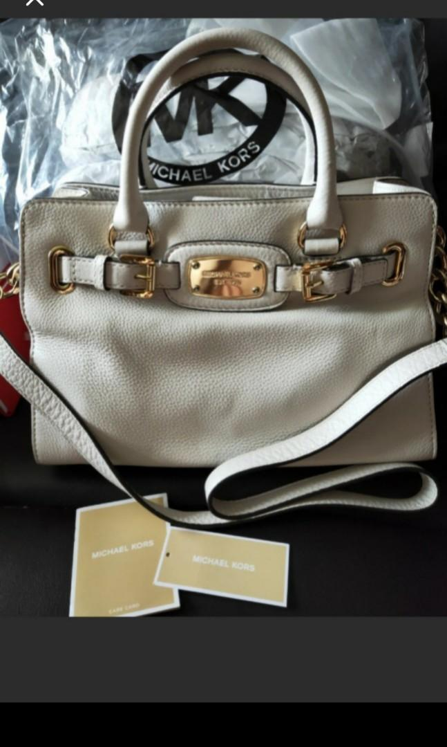 HARI RAYA SPECIAL! REPRICED FOR QUICK DEAL! Pls read details! As good as new Michael Kors Hamilton in Vanilla colour