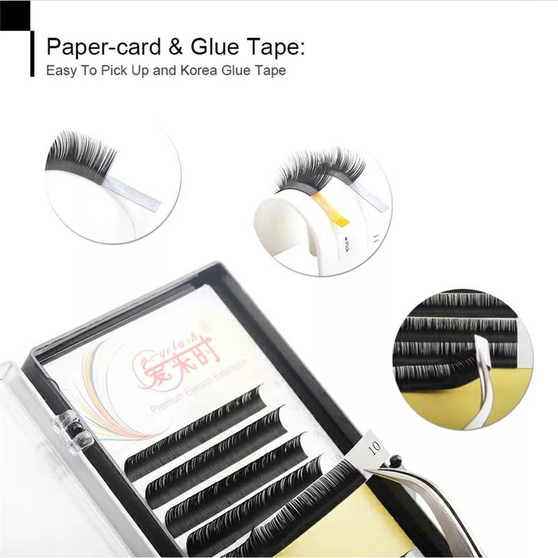 Individual Eyelash Extension Faux Mink Eyelash Curl Thickness Length Classical Eyelashes Maquiagem Cilios Eye Lash