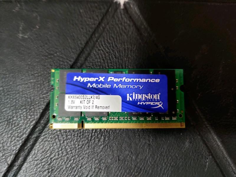 KINGSTON 2GB (1x2GB) DDR2-800 Laptop RAM