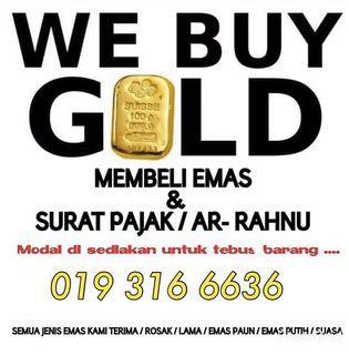 membeli  emas terpakai