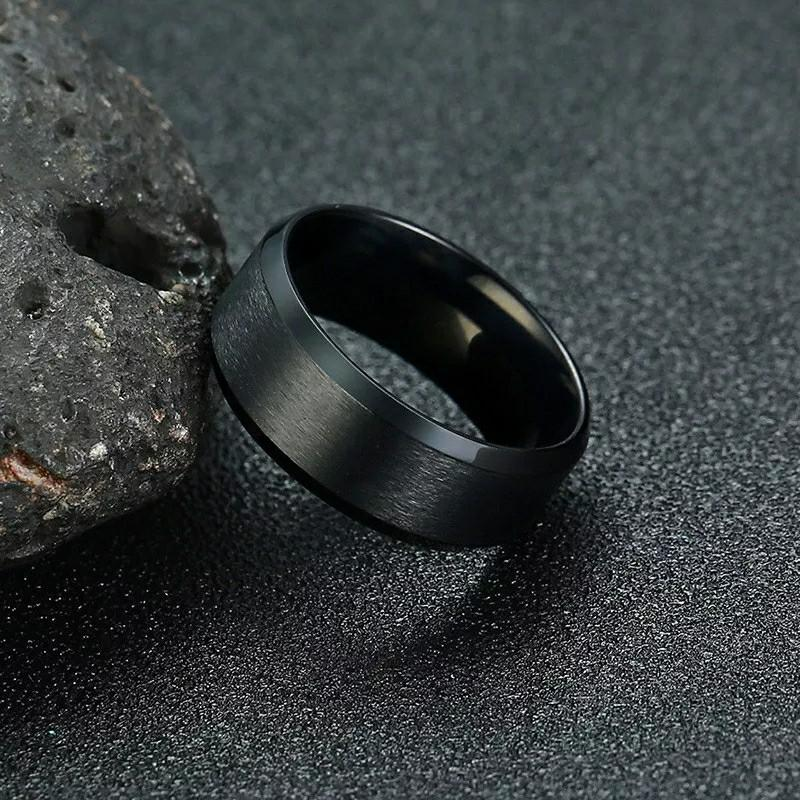 New Fashion 8mm Classic Ring Male 316L Stainless Steel Jewelry Wedding Ring For Man | Women | Men | Girls