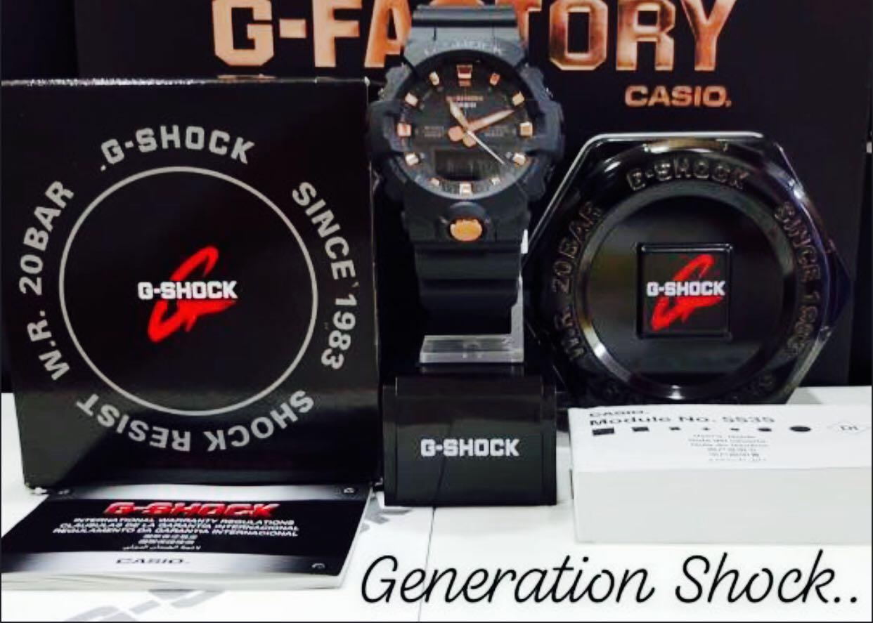 NEW🌟GSHOCK DIVER UNISEX SPORTS WATCH : 100% ORIGINAL AUTHENTIC CASIO G-SHOCK : GA-810B-1A9 / GA-810-1A9 / GA-800-1A9 (BLACK-GOLD)