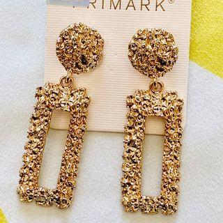 Primark Rectangular Gold Earrings