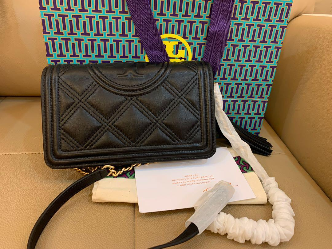 Ready Stock authentic Tory Burch Fleming box soft crossbody wow sling bag