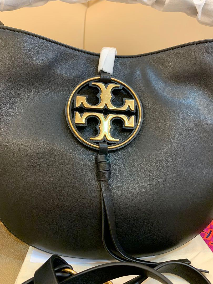 Ready Stock authentic Tory Burch metal miller mini hobo bag in black Raya promotion