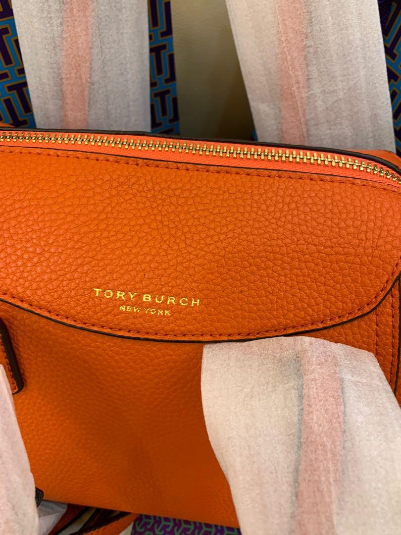 Ready Stock authentic Tory Burch orange Perry sling bag in orange crossbody strap