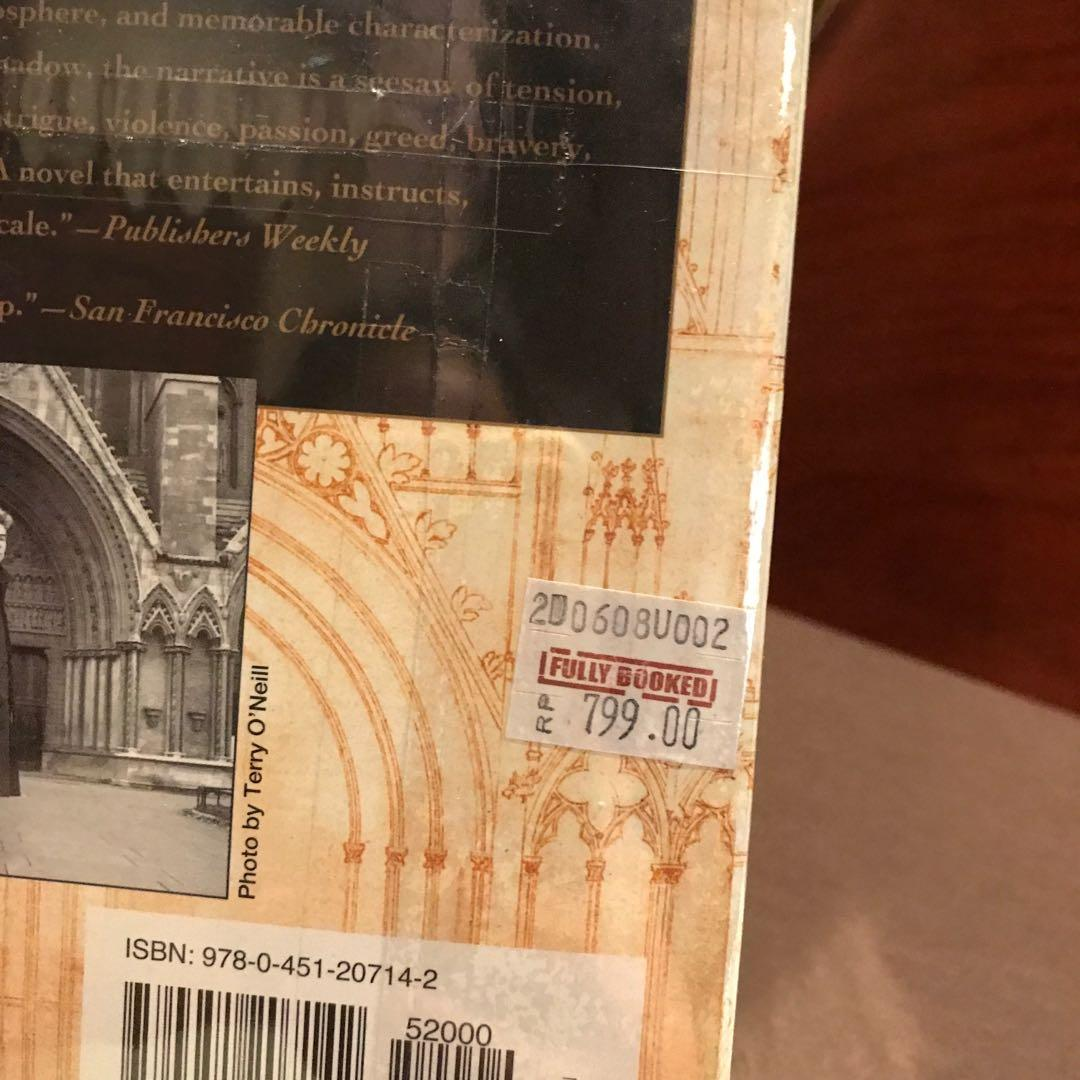 THE PILLARS OF THE EARTH BY KEN FOLLETT BRAND NEW AND STILL SEALED WITH PRICE TAG - PRICE NEGOTIABLE - BIG AND HEAVY BOOK - NEW YORK TIMES BEST SELLING AUTHOR (keywords: Lord Of The Rings Books)