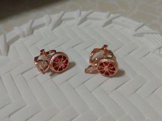 夾式耳環 (葡萄柚)