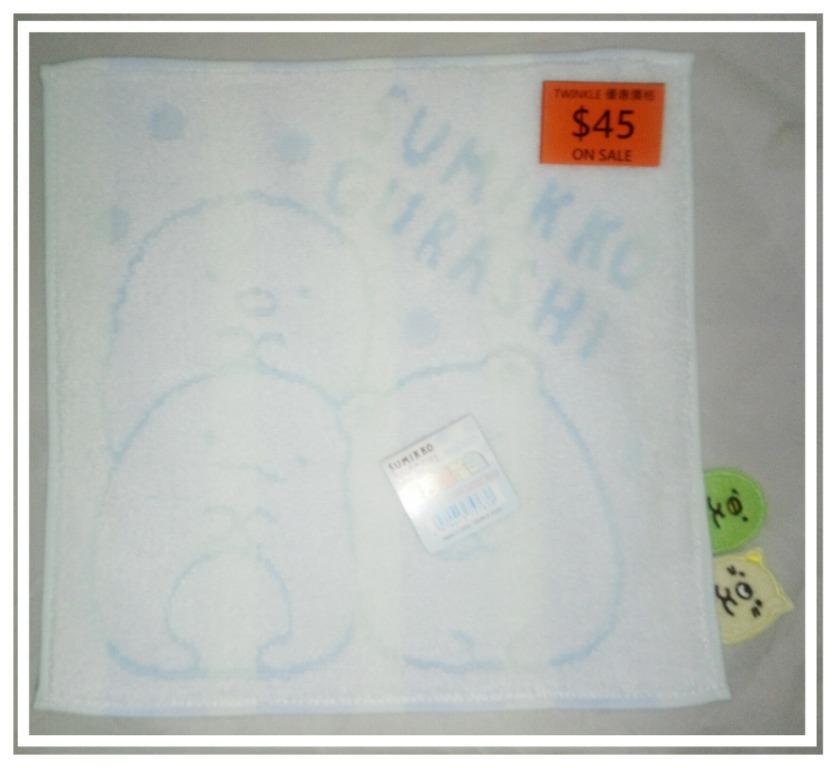角落生物 Sumikko Gurashi 藍色正方毛巾 25x25cm