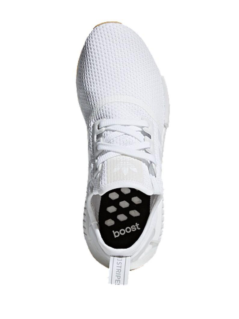 adidas Unisex NMD_R1 Shoes - White/Gum