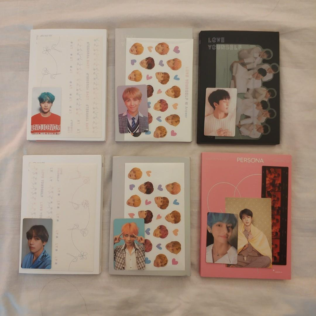 BTS LOVE YOURSELF HER TEAR ANSWER MOTS ALBUMS WITH PHOTOCARD