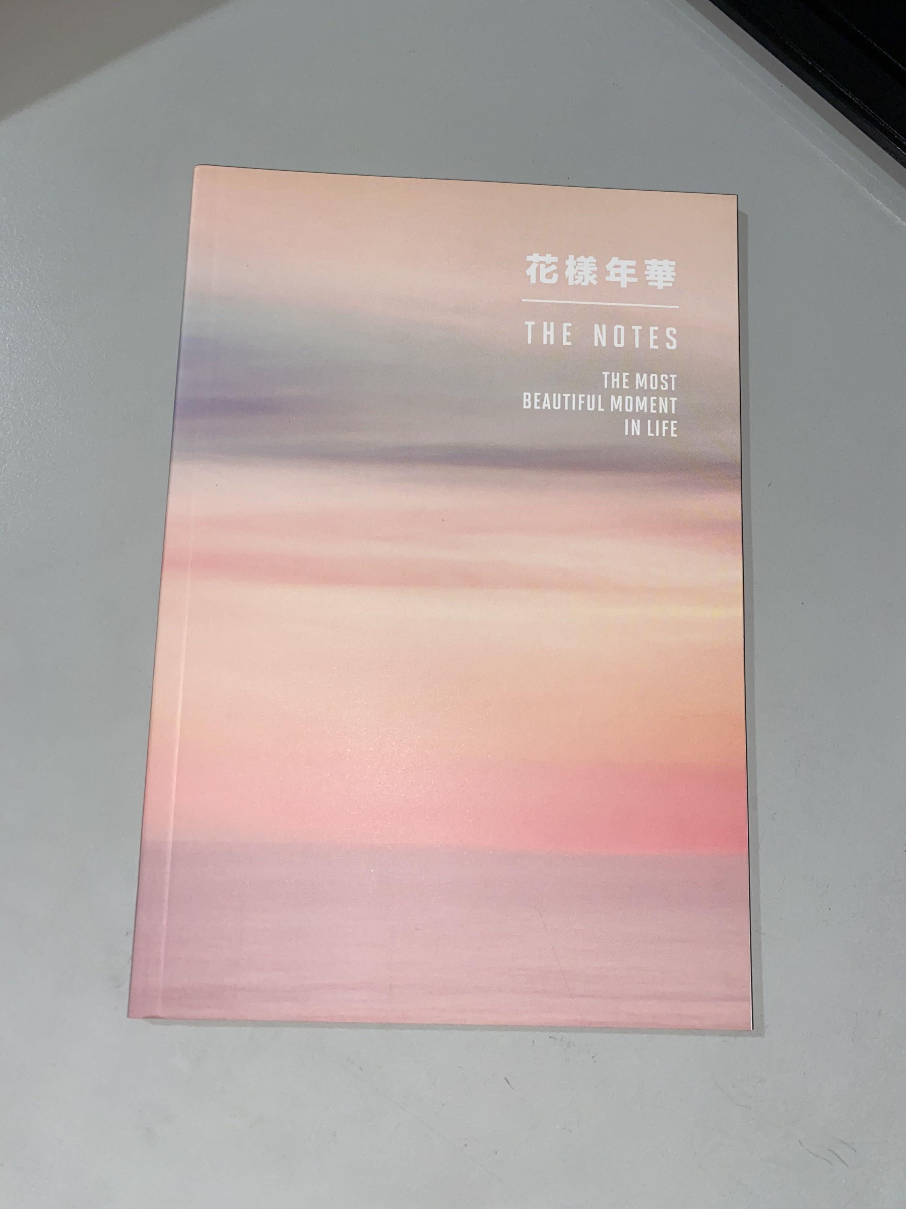 BTS The most beautiful moment in life english notes notebook