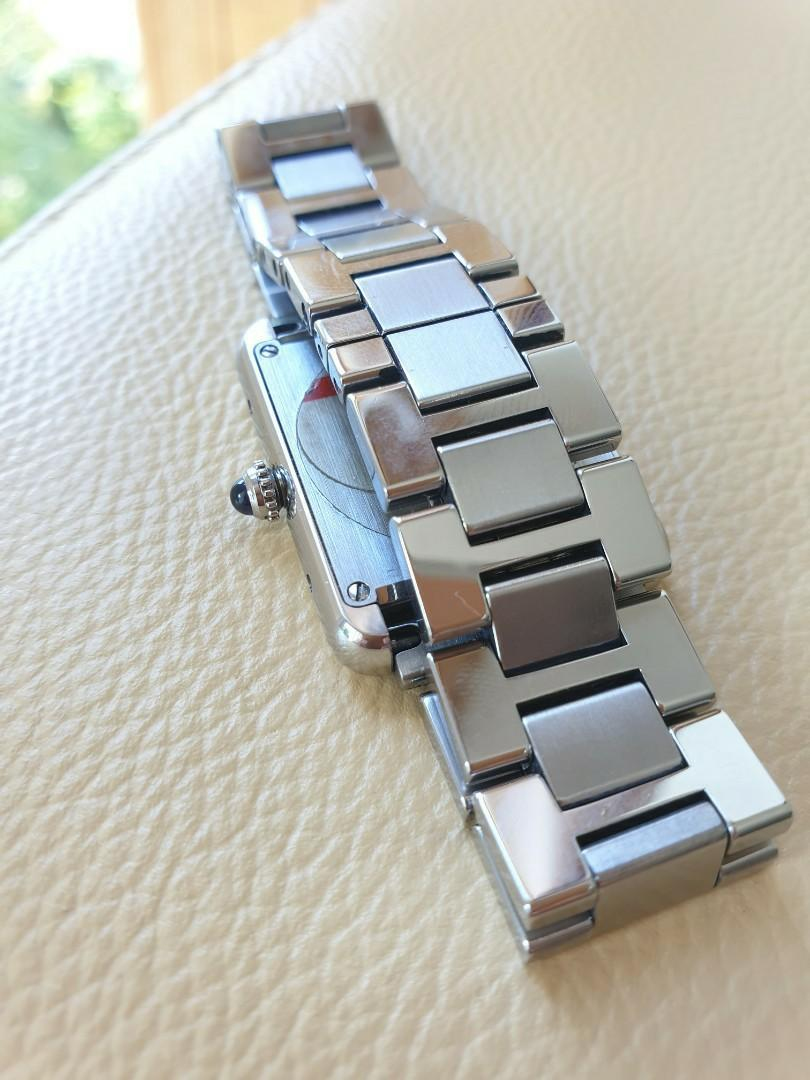 Cartier Tank Solo White Dial Ladies Steel Quartz - Full Cert Box Set!                                                                                       Rolex Tudor Cartier Omega IWC AP Chopard Tag Heuer Apple