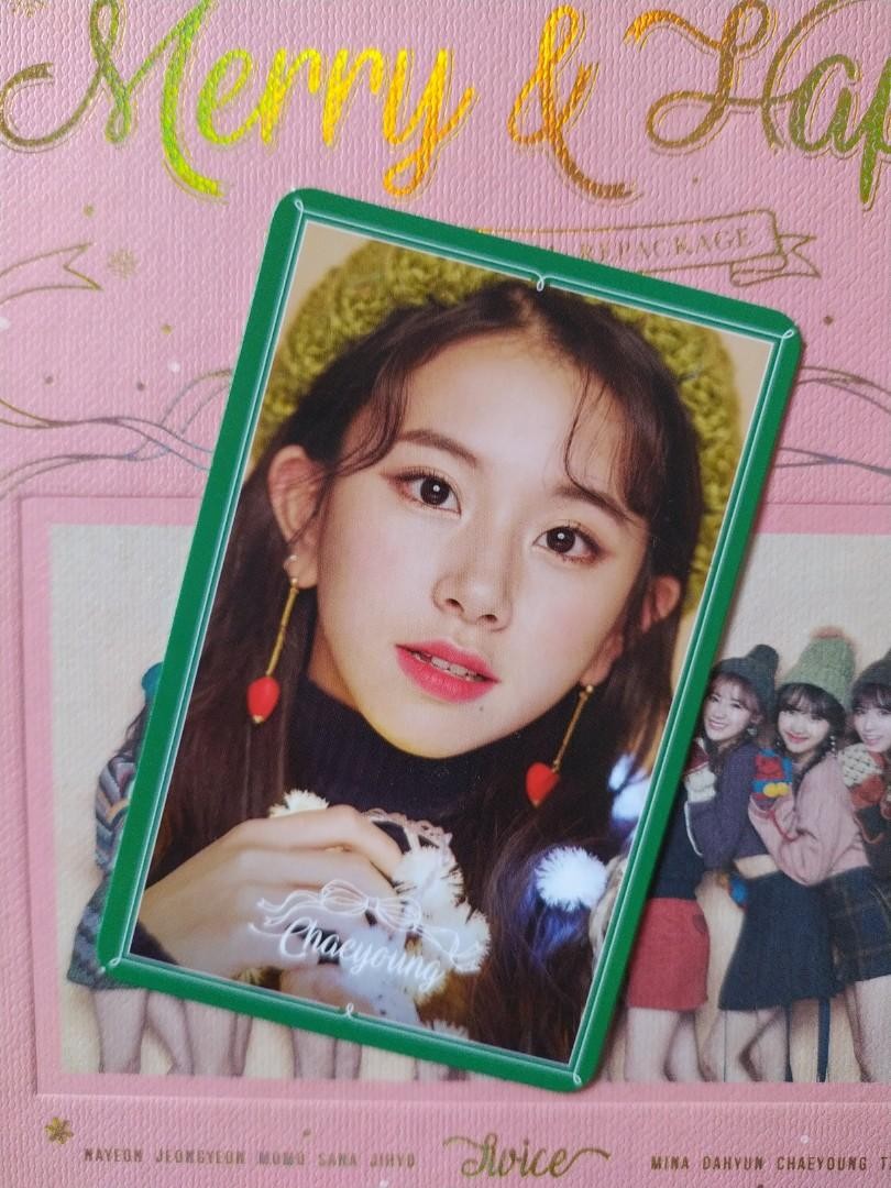 Chaeyoung Twice 'Merry & Happy' Special photocard/pc