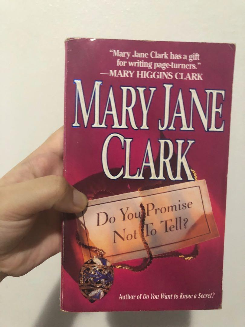 Cheap Thriller/Mystery Books for sale (The Monogram Murders by Agatha Christie, Clear and Present Dangers by Tom Clancy, and Do You Promise Not To Tell? by Mary Jane Clark)