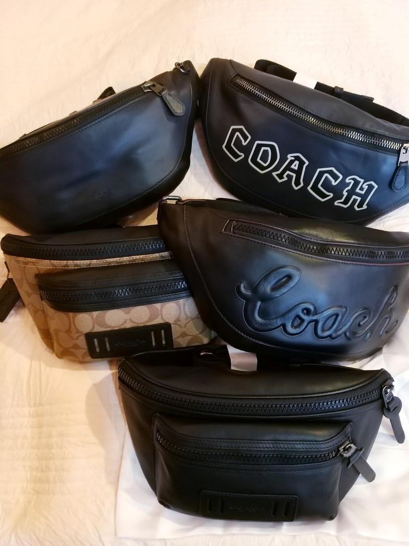 CLEARANCE! 100% ORIGINAL READY STOCK WARREN BELT BAG WITH COACH SCRIPT (COACH F76799)