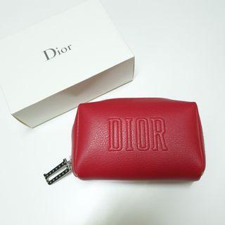 Dior 迪奧 紅色化妝包 Dior pouch