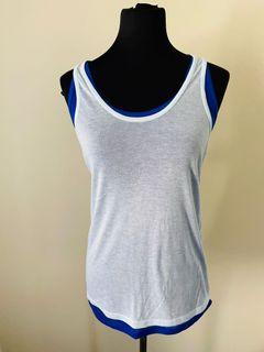 DKNY baby blue top size S/M/L