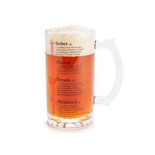 Drinktionery Beer Stein Glass Mug 415ml