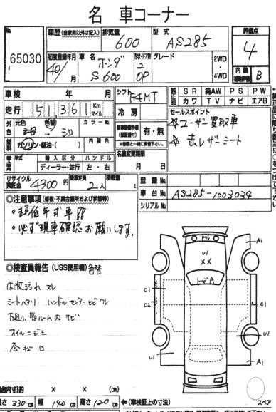 Honda S600 OP Manual
