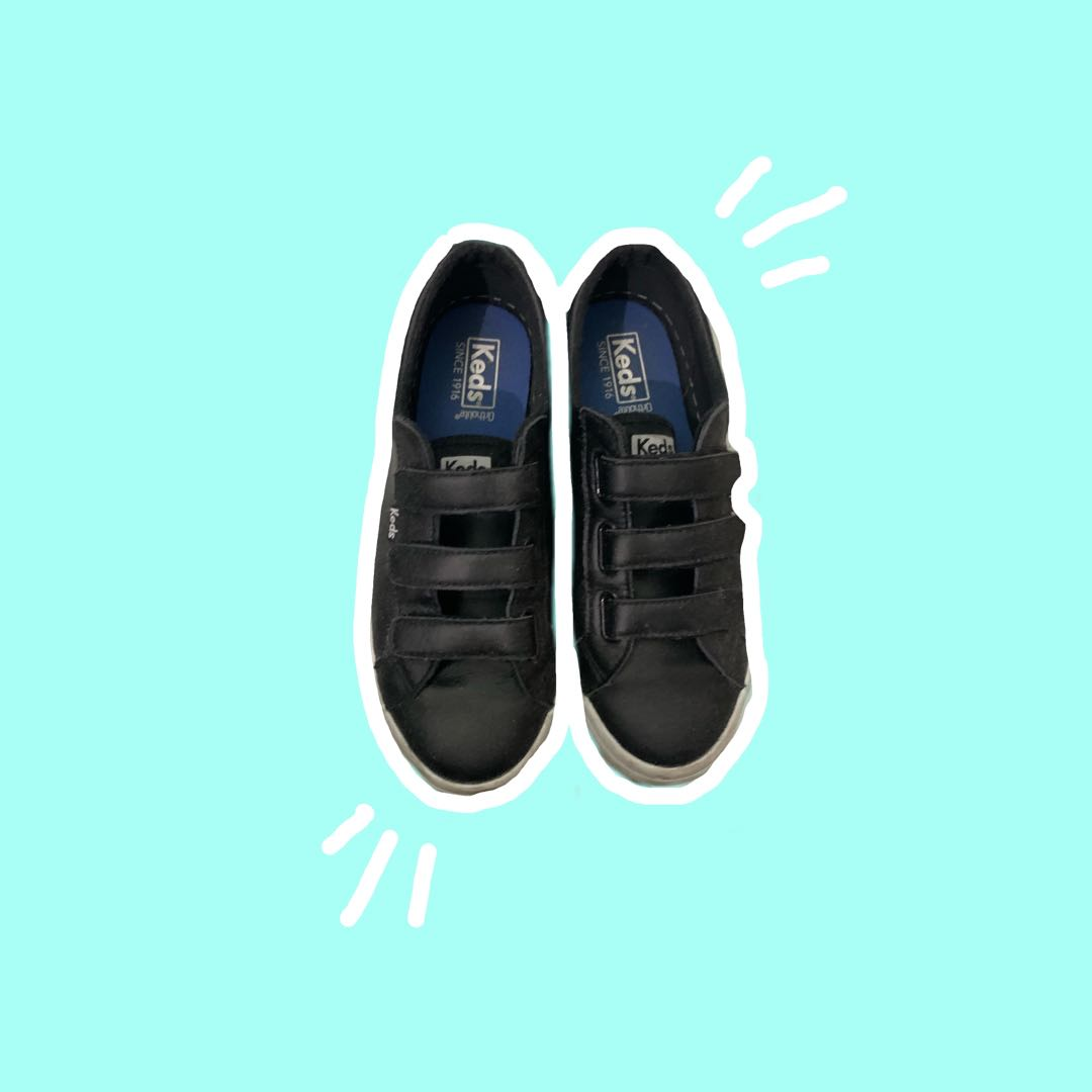 Keds black strap sneakers, Women's