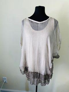 Made in Italy two piece top size S/M/L