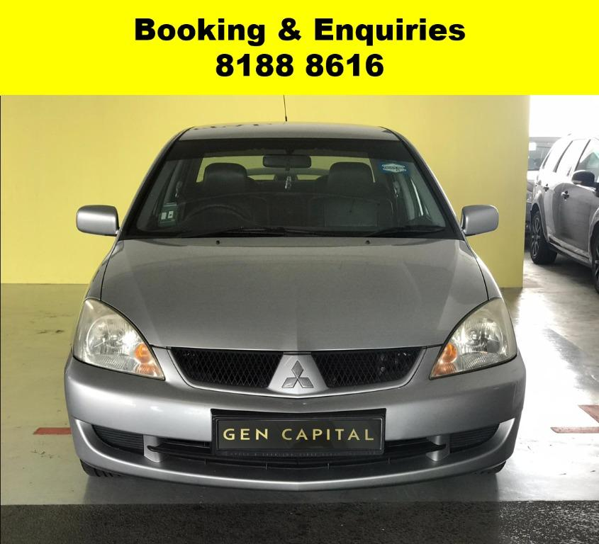 Mitsubishi Lancer GLX LAST WEEK CIRCUIT BREAKER PROMO! FULLY SANITISED AND GROOMED! $500 DEPOSIT DRIVEAWAY. WHATSAPP 8188 8616 NOW TO RESERVE A CAR TODAY!