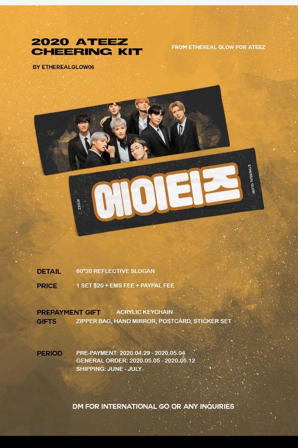 [MY G.O 🇲🇾] ATEEZ CHEERING KIT  - SALES by @etherealglow06