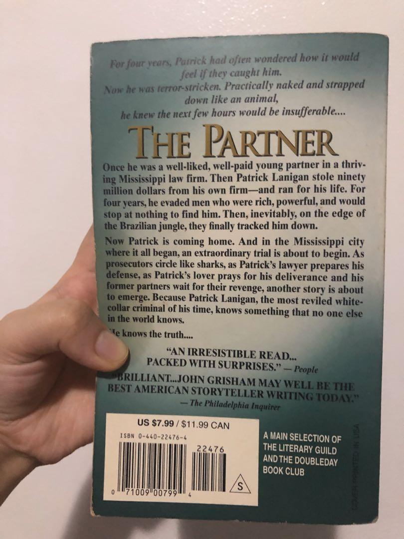 New York Times Bestseller Thriller Books (The Partner by John Grisham, The Genesis Code by John Case)