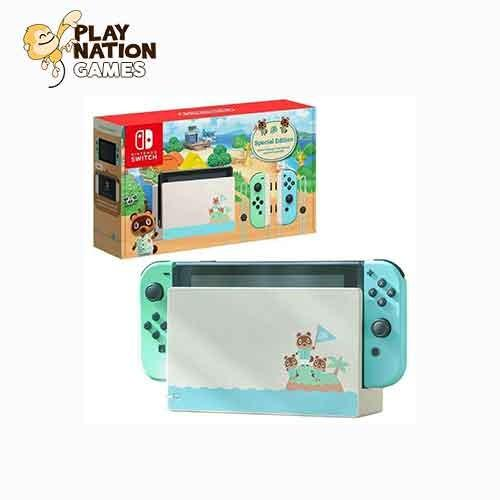 Nintendo Switch Console System Gen 2 Animal Crossing Edition W
