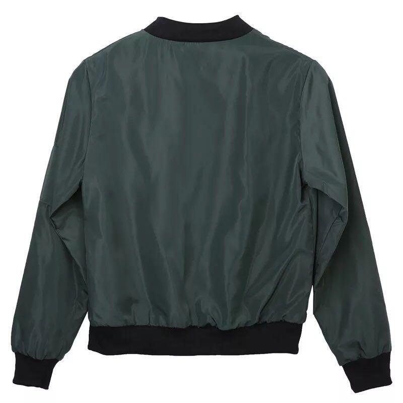 ✨Olive/Dark army green thin bomber jacket outerwear
