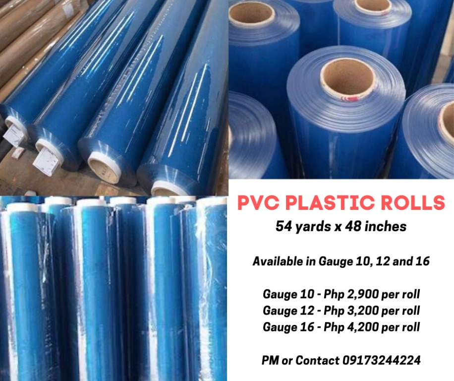 Repriced Pvc Plastic Cover Roll Gauge 10 12 And 16 Design Craft Others On Carousell