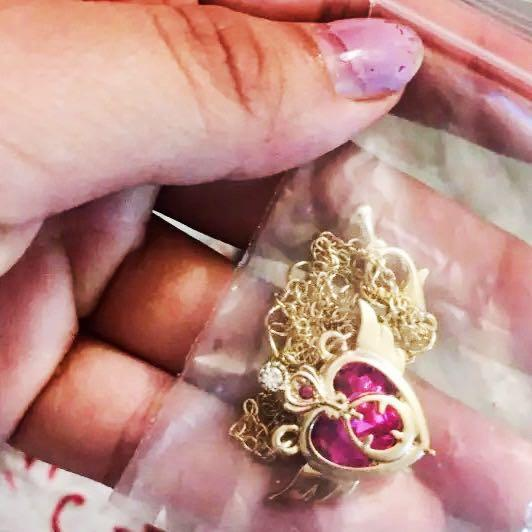 SHIPPING ONLY: sailor moon pink gold pendant necklace