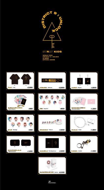 Stray Kids World Tour District 9 : Unlock in Japan Official Goods Merchandise