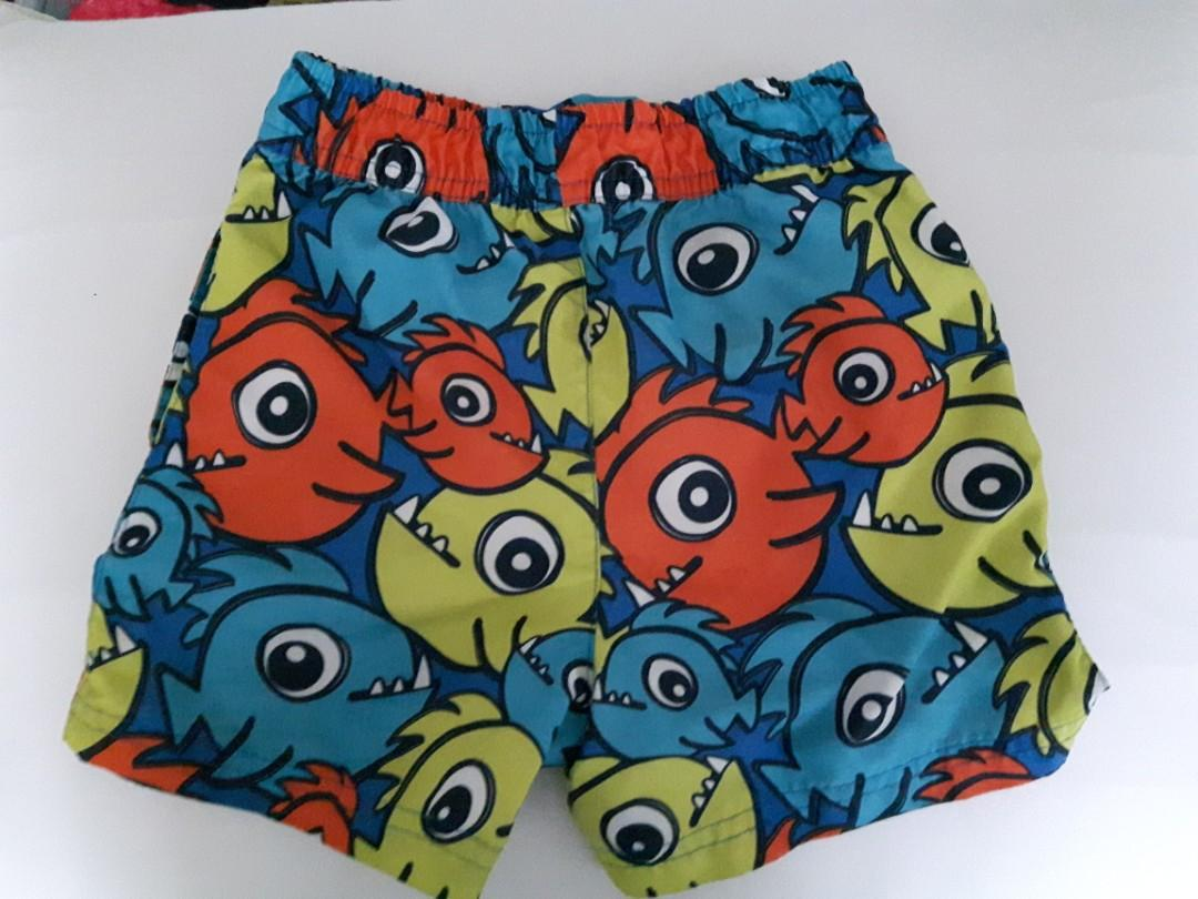 TODDLER SWIM SHORTS- 18-24 months- *Like New- Fish/sea theme
