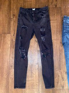 TOPSHOP Jaime Jeans Black