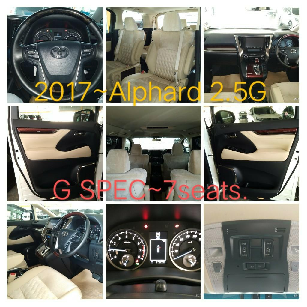 TOYOTA ALPHARD 2.5 G SPEC 7 seats RECORD~2017  on the road Price RM238,888.88👍📲www.wasap.my/0122367272/SengSeng☺🙏