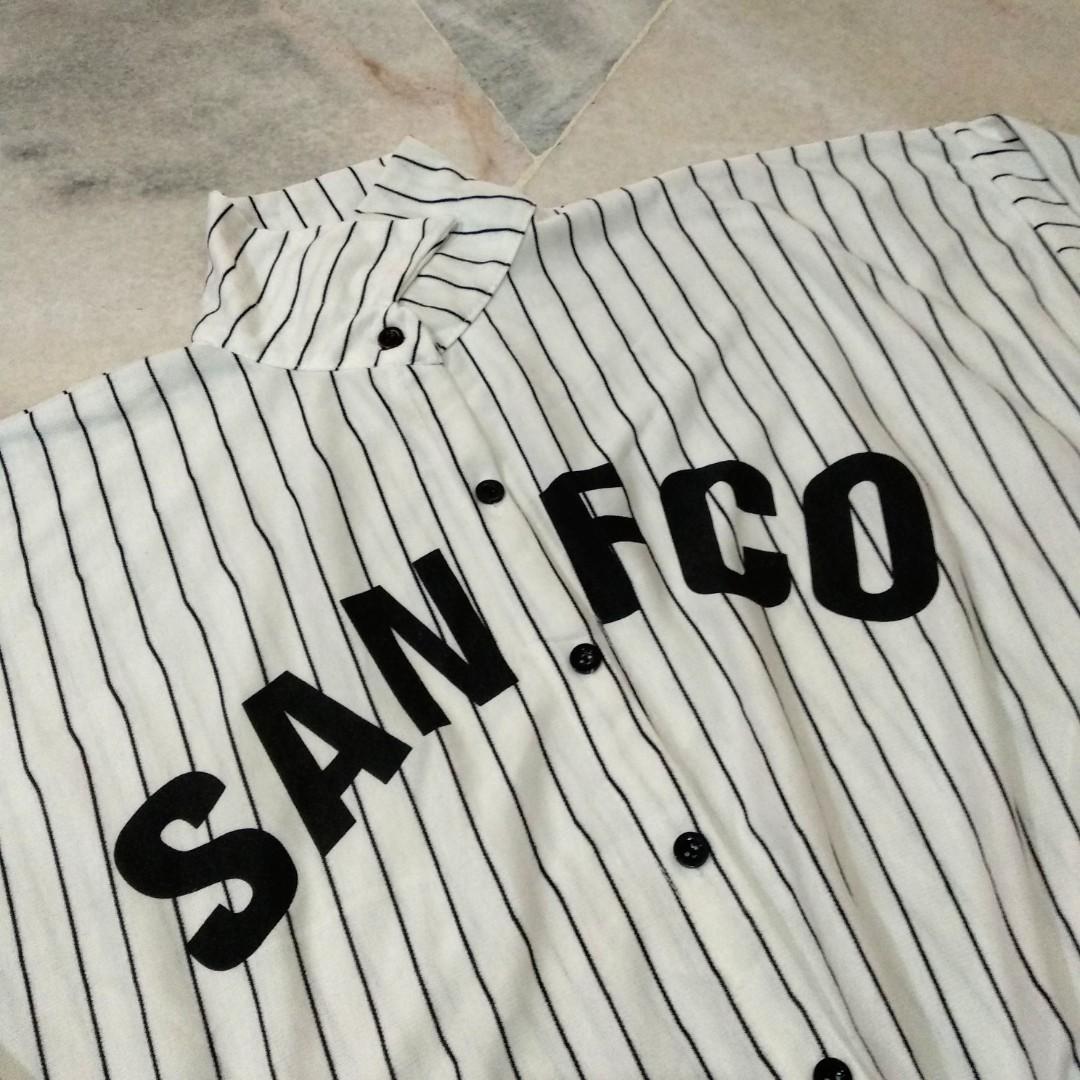 Unisex White Stripe Baseball Jersey #Carouraya2020