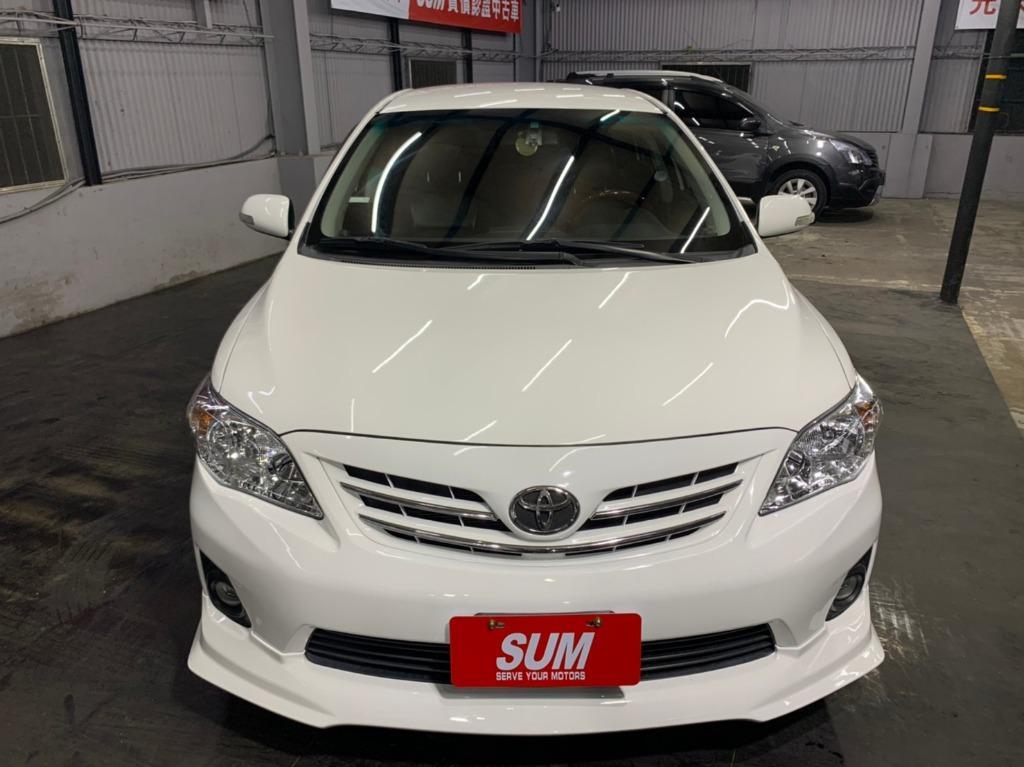 2012 toyota  Altis 1.8E 白色 全額貸款 超額貸款  找錢車 非自售 一手車/中古車
