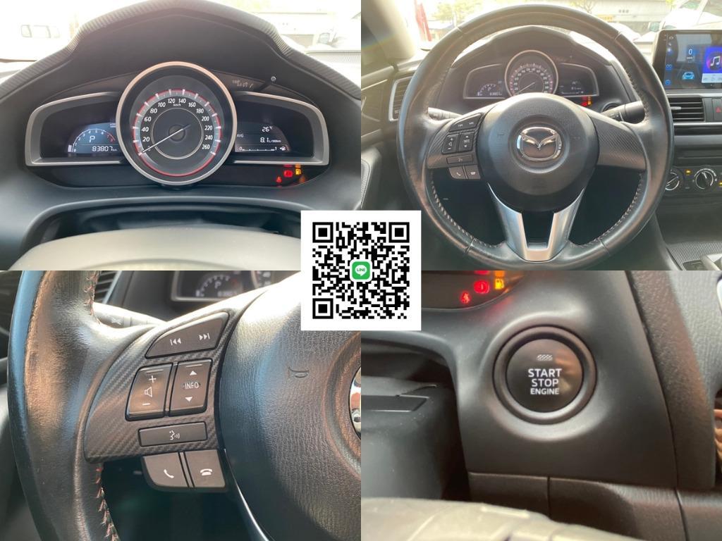 """2016年式 Mazda3 馬3 魂動紅 [安卓觸控主機 I-KEY] """"全貸 增貸強力過件"""" 非WRX Grand Lancer Altis S5"""