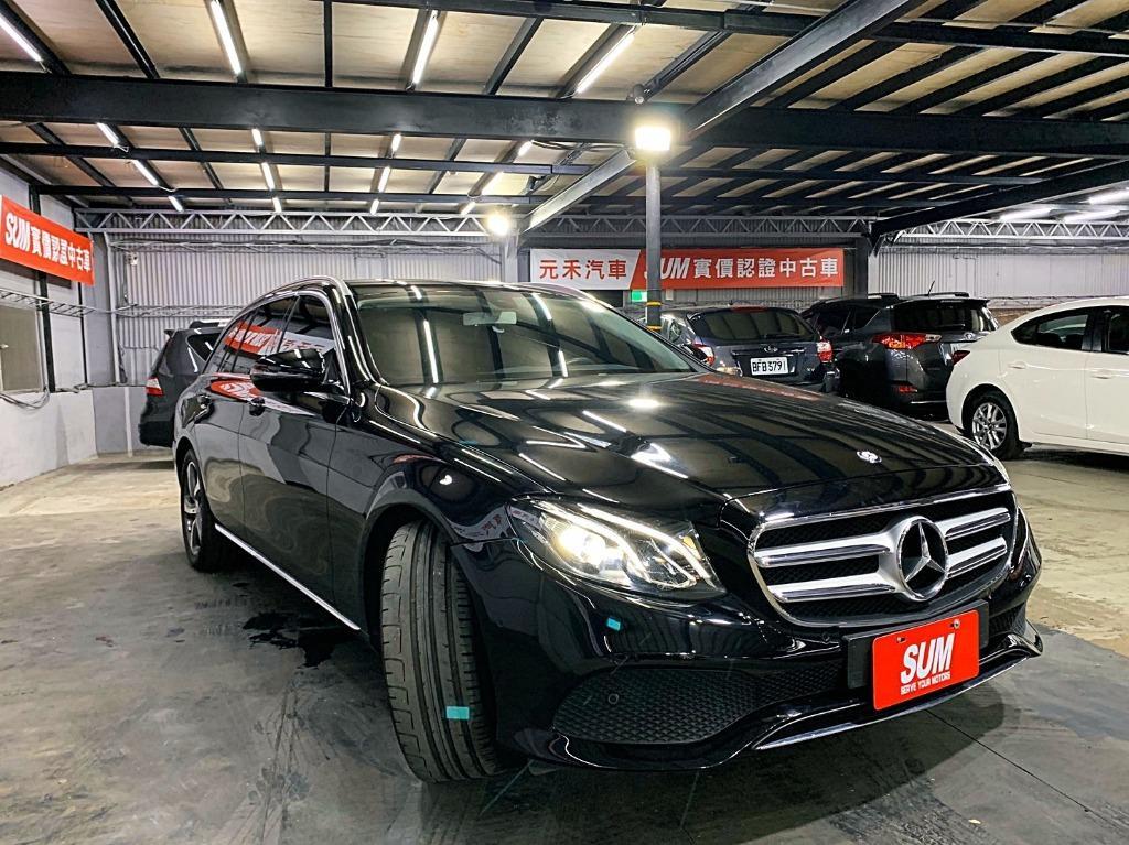 2017 賓士 E200T 5D 黑色 全額貸款 超額貸款  找錢車 非自售 一手車/中古車