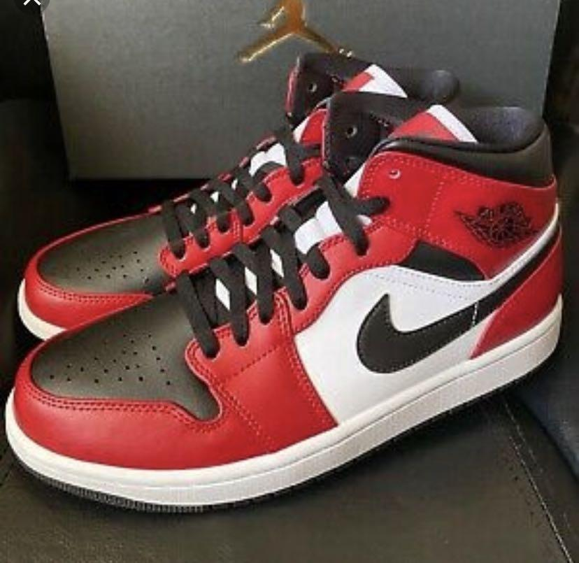 Air jordan 1 Mid chicago black toe, Men