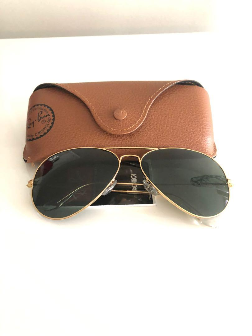 Authentic Ray Bans serialized