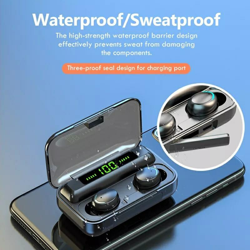 Bluetooth 5.0 Earphones 2200mAh Charging Box Wireless Headphone 9D Stereo Sports Waterproof Earbuds Headsets With Microphone