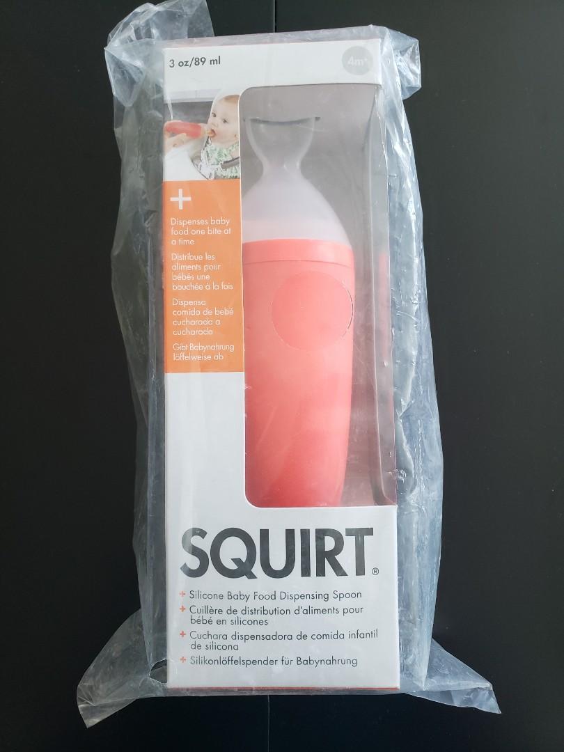 BNIB Boon Squirt Silicone Baby Food Dispensing Spoon